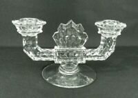"""Vintage Fostoria American Double Taper Candle Holder 8.5"""" W"""