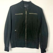 Fox Racing Heritage Forged Men's Lined Black Bomber Full Zip Jacket Size Medium