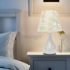 1/2pcs Holmark Contemporary Table Light LED Nightlight E27 Bulb Lampshade Decor