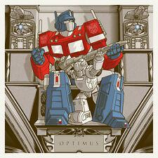 Joshua Budich Optimus Prime Poster Transformers Autobots Decepticons Megatron SN