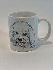 Bichon Frise Cindy Farmer made in Usa 1990 Porcelain Coffee Tea Mug Vintage