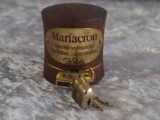 Mariacron Flaschenverschluß mit Schloß Schlüssel 70er 80er variabel Teakholz