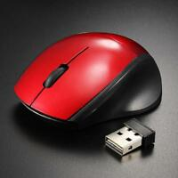 2.4GHz Mice Optical Mouse Cordless Receiver PC Computer Wireless for Laptop AA