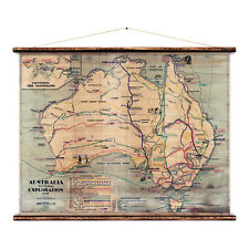 Australia Pictorial Exploration Map Wall Hanging by Erstwhile