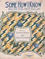 ST. PAUL, MINNESOTA jazz song SOME HOW I KNOW fox trot ballad ART DECO 1922