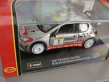 Bburago RALLY COLLECTION: 2001 PEUGEOT 206 WRC M. Groholm Rallye de Monte Carlo