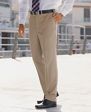 "Premier Man Plain Front Trousers Waist 34"" Leg 31"" NEW Black, Fawn, Grey, Navy"