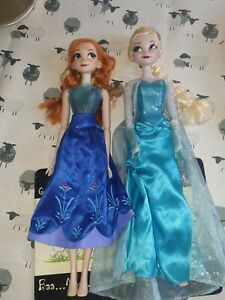 "Beautiful 16"" Disney Frozen Elsa and Anna Singing  Light Up Doll Set Working (f1"