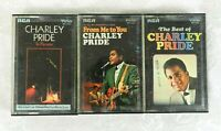 3 Charley Pride Cassette Tapes - In Person - From Me To You - The Best Of - 1969