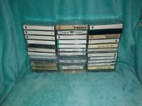 Lot 40 Cassette Tapes Pre-recorded Sold as Used Blanks - SONY, AMPEX Vintage MIX