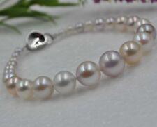 Natural Rare multicolor 10mm round freshwater Pearl Bracelets  J15441