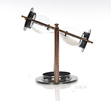 "Brass Revolving Hourglass w/ Stand 8.5"" Nautical Marine Sandglass Sand Timer New"