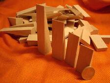75 Holzkeile Sortiment 4 Größen 50 -100 x 24 mm Möbelkeile Montagekeile Buche !