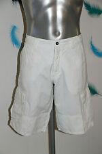 Bermuda Cotton Linen White Man Napapijri Size W32 42 Fr Mint
