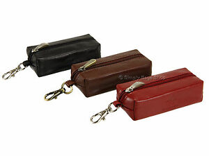 Visconti Leather Keyring Zip Pouch Bag Case Coins Keys Holder In Gift Box - MZ18