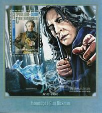 Cent African Rep Stamps 2016 MNH Alan Rickman Severus Snape Harry Potter 1v S/S