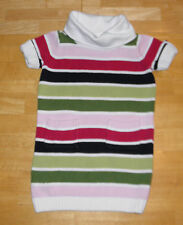 GYMBOREE PUPS & KISSES PINK & GREEN STRIPED SWEATER DRESS GIRLS  4 FALL