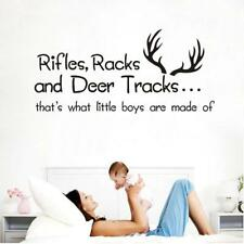 Nursery Wall Decal Vinyl Deer Rifles Racks Rustic Baby Boy Kids Toddler Room New