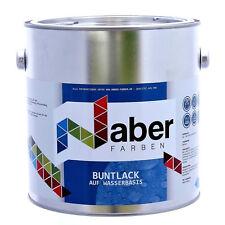 (11,20 €/L) 2,5 Liter -  Lack auf Wasserbasis - 3in1 - RAL 9003  SIGNALWEISS -