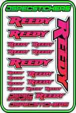 RC STICKERS REEDY 1/10 1/8 1/12 DECAL MOTOR BATTERY ESC CAR JSPEC RED PINK BLACK