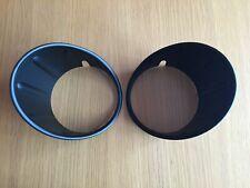 BLACK FOG LIGHT COVERS FITS MINI ONE HATCH COOPER CONVERTIBLE F55 F56 F57 2013+