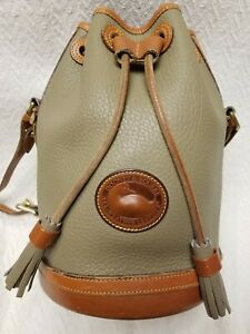 Vintage Dooney and Bourke Small Round Bucket Drawstring Bag