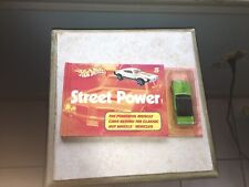Vintage Hot Wheels Street Power Book With 1968 Mercury Cougar