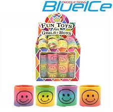 Color Paquete de 24 Mini Smiley Muelles Niños Niño Juguete Relleno Bolsa Fiesta Juego De Premio