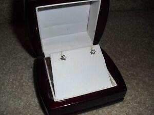 Costco Round Brilliant 0.50 ctw VS2 Clarity, H Diamond 14kt White Gold earrings