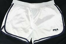 Fila Blanche Serena Satin Retro Shorts Womens White Size Medium