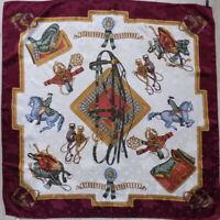 Gorgeous Italian Beautiful Vintage Silk Scarf 100% Silk Wrap Hand Rolled