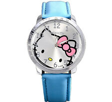 Hello Kitty Watch Light Blue Girls Childeren Kids Wrist Watch