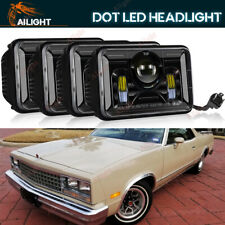 4x6'' LED Headlights HID Beam Fit Chevy El Camino 1982-87 Monte Carlo 1980-88
