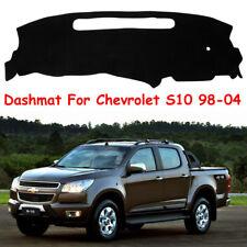 Car Dash Mat For Chevrolet S10 1998-2004 Black Dashboard Cover Anti-UV Pad Black