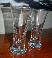 LOT de 2 verre lourd à pastis avec liseret dose ANCIEN VINTAGE DE BISTROT #MH