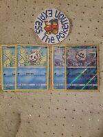 Pokémon TCG 2x Vanillite #33/145 2x Vanillish #34/145 (1 Rev Holo) Mint Water