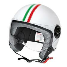 Casco demi-jet Bandiera Italiana Calotta in materiale termoplastico varie misure
