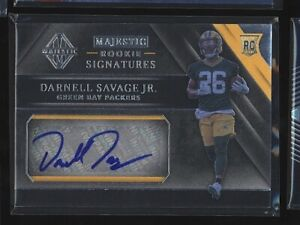 2019 Majestic DARNELL SAVAGE JR Rookie Signatures RC Auto Silver /199 Packers
