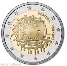 """PORTUGAL: SPECIALE 2 EURO 2015 UNC  """"30 JAAR EUROPESE VLAG"""" UNC"""