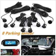 Black Parking 8 Sensor Dual-core Front/Rear LCD Display Car Reverse Backup Radar
