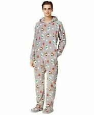 CLEARANCE!! Family Pajamas Matching Men's Gnomes Hooded One-Piece Medium