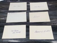 St. Louis Cardinals Signed Autographed Index 39 Card Lot Many Tough & Deceased