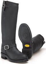 "Chippewa Mens 27909 17"" Steel Toe Black Odessa Engineer Boots 7D New USA Made"