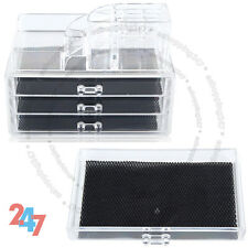 Makeup 3 Drawers Acrylic Case Display Organizer Box Vanity D7648