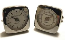 Mens Vintage WORKING TATEOSSIAN LONDON THERMOMETER CUFFLINKS  Stainless Steel