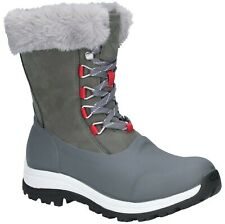 Muck Boots Womens Apres Lace Mid Boot Grey/Red