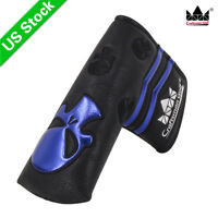 Black Craftsman Skull Golf  Putter Cover Headcover for Odyssey Titleist Callaway