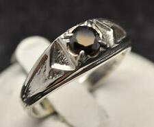 .6 CT MINED BLACK DIAMOND STERLING SILVER MENS RING SIZE 10.25 USA CERTIFIABLE