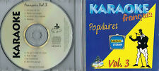 Karaoke CD+G Populaires Francais Vol.3 CDG BRAND NEW,  MusicaMonette from Canada