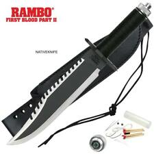 Rambo II First Blood Fixed Blade Knife MCRB2 OFFICIALLY LICENSED